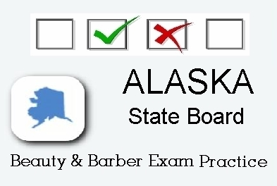Alaska exam practice for state board in cosmetology, barber, esthetics, natural hair styling, and manicuring tests