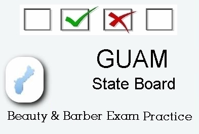 GUAM exam practice for state board in cosmetology, barber, esthetics and manicurist tests