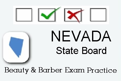 NEVADA exam practice for state board in cosmetology, barber, esthetics, natural hair and braiding, and manicuring tests