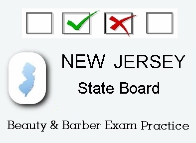 NEW JERSEY Cosmetology Barber Esthetics State Board Test Practice