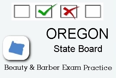 OREGON exam practice for state board in cosmetology, barber, esthetics, natural hair and braiding, and manicuring tests