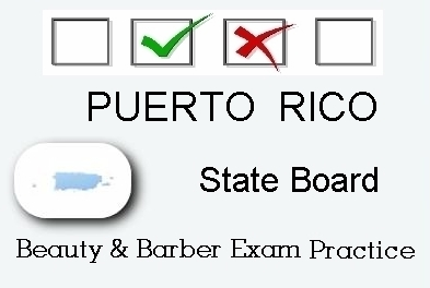 PUERTO RICO exam practice for state board in cosmetology, barber, esthetics, natural hair and braiding, and manicuring tests