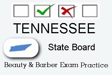 TENNESSEE exam practice for state board in cosmetology, barber, esthetics, natural hair and braiding, and manicuring tests