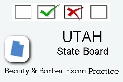 UTAH exam practice for state board in cosmetology, barber, esthetics and manicurist tests